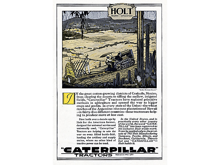 Holt Caterpillar Mexico advertisement, 1920.