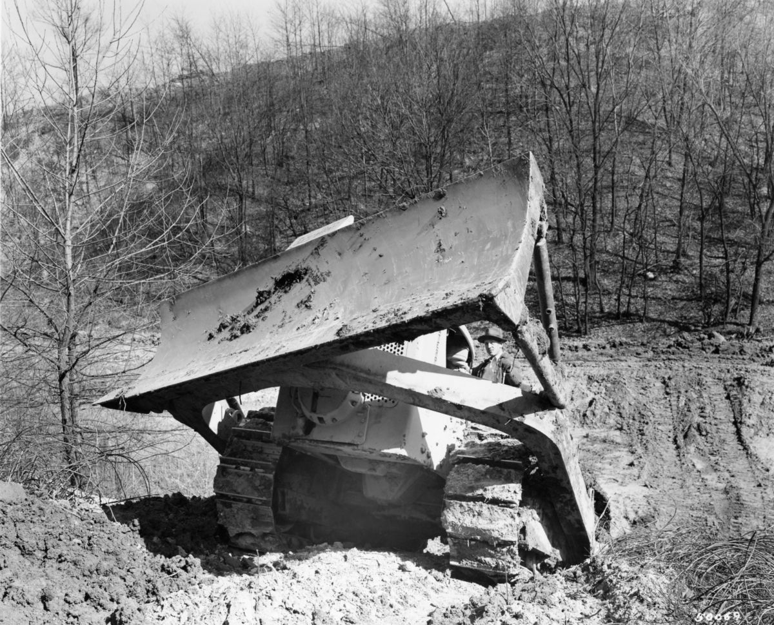 Bulldozer blade, 1945.