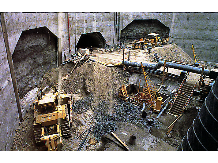 Construction of the Chunnel, 1986