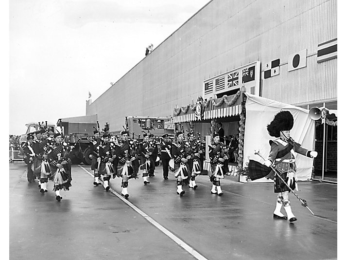 Our first overseas plant opened in Glasgow, Scotland in 1958
