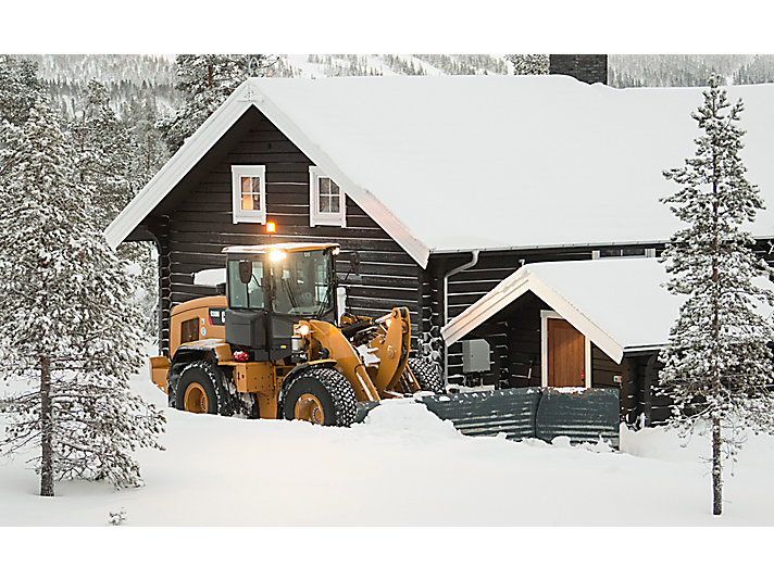 930M Small Wheel Loader in snow removal application in Salen, Sweden