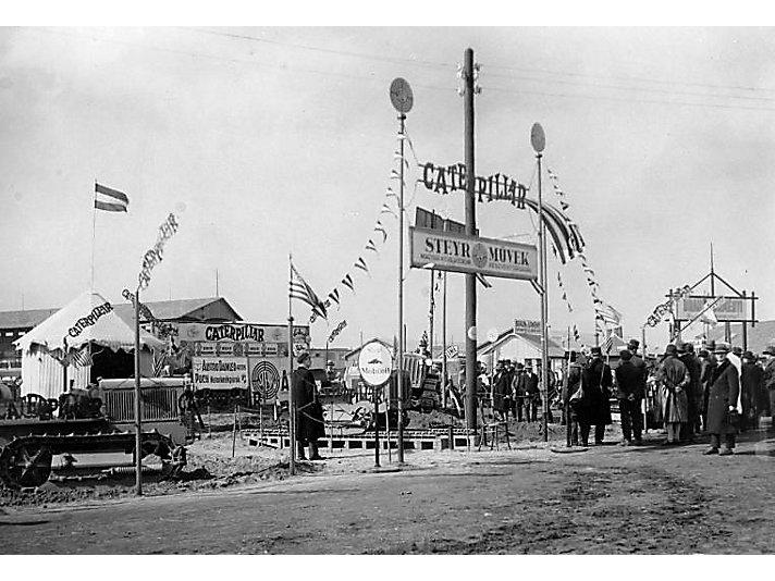 Caterpillar Sales Demonstration, Hungary, ca. 1927.