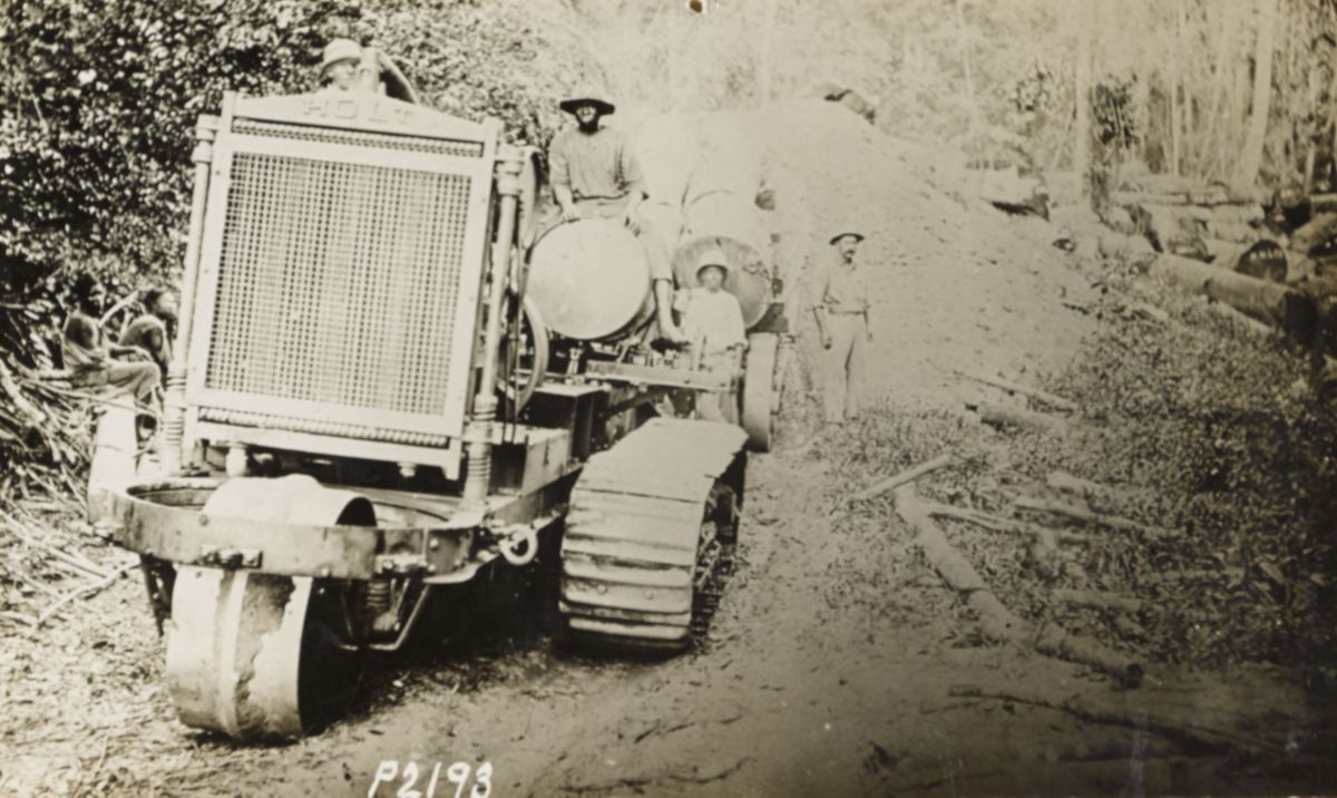 Holt 60 Track-Type Tractor, Africa, 1914.