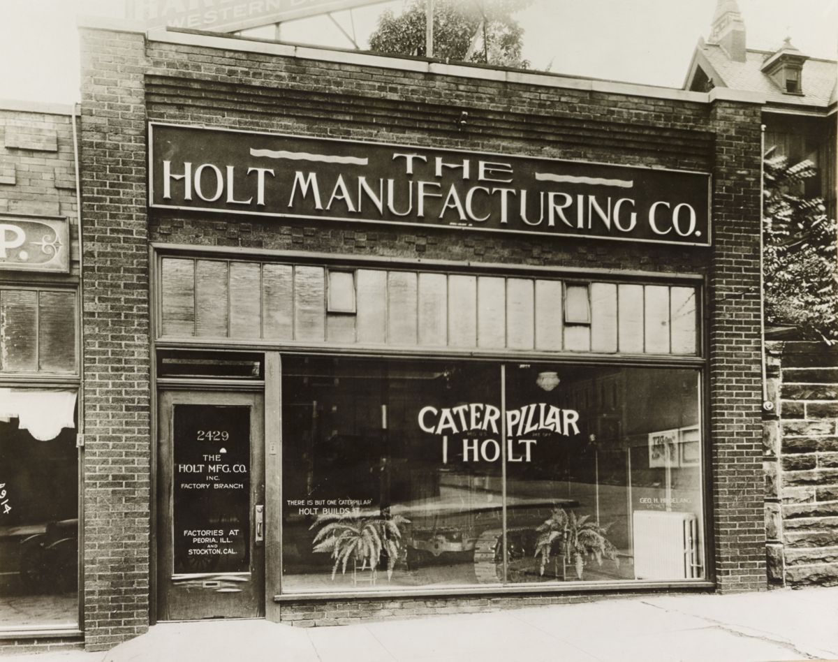 Holt Manufacturing Company office, 1922.