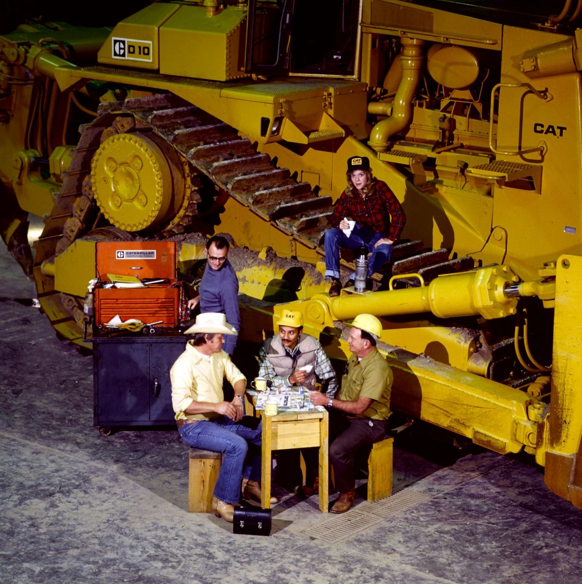 Caterpillar dealer service shop, 1982.