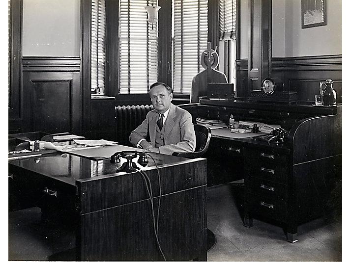 B.C. Heacock, East Peoria, Illinois office, ca. 1931.
