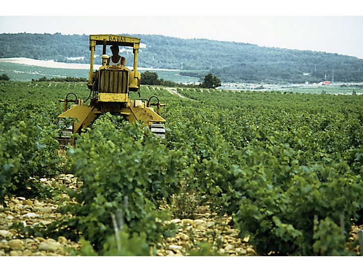 Caterpillar D4 Track-Type Tractor working in France, ca. 1975.