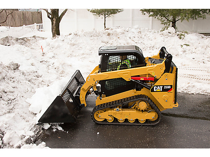 Skid Steer Loader Material Handling Bucket - Pushing Snow in New York