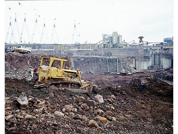 Track-Type Tractor working on the Itaipu Dam, Brazil, 1978.