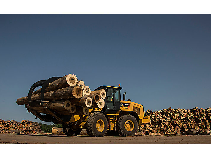 Cat® 938M Small Wheel Loader and Sorting Grapple Forks at Work