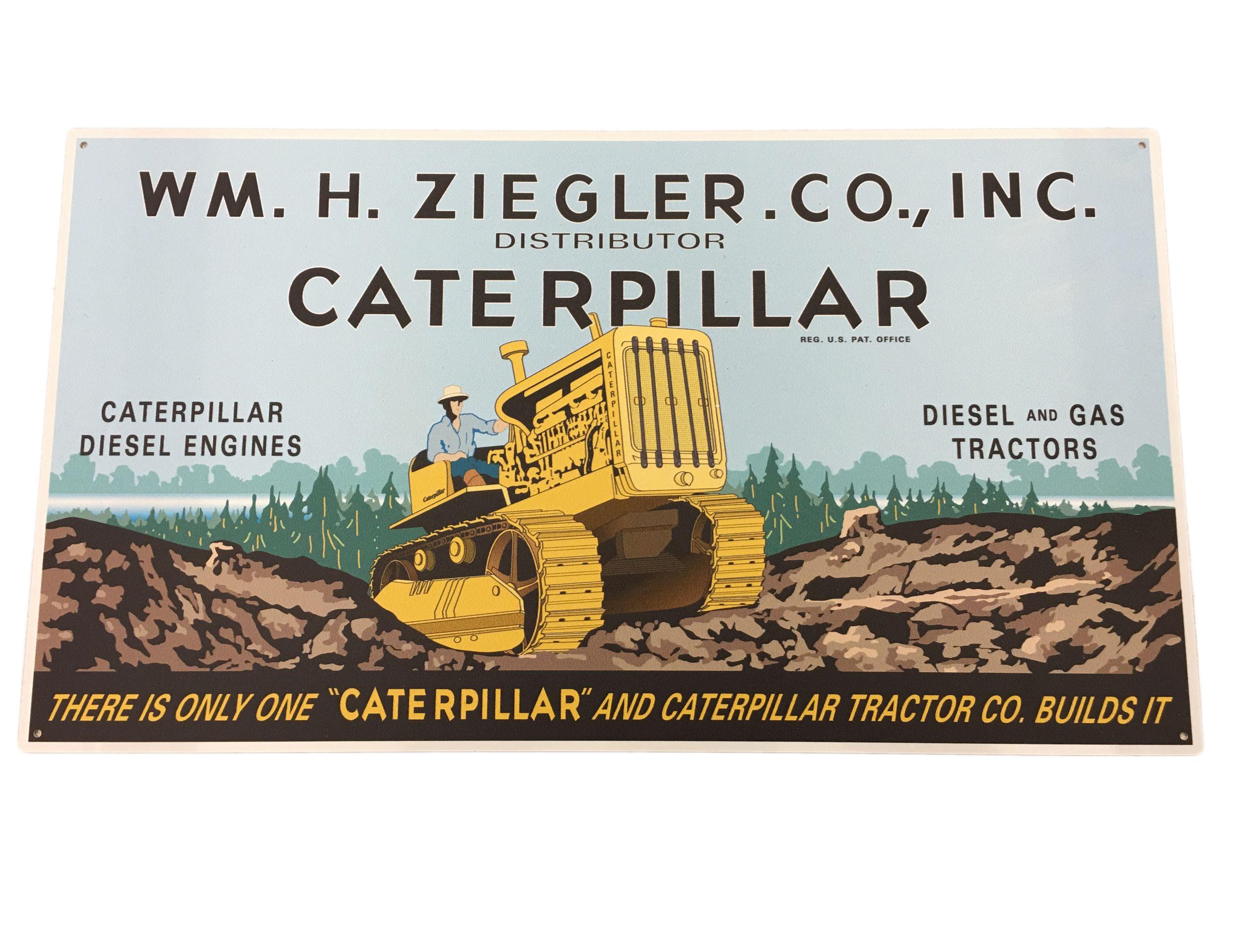 Caterpillar T-Shirt CAT Logo Tractor Equipment Bulldozer Construction Men