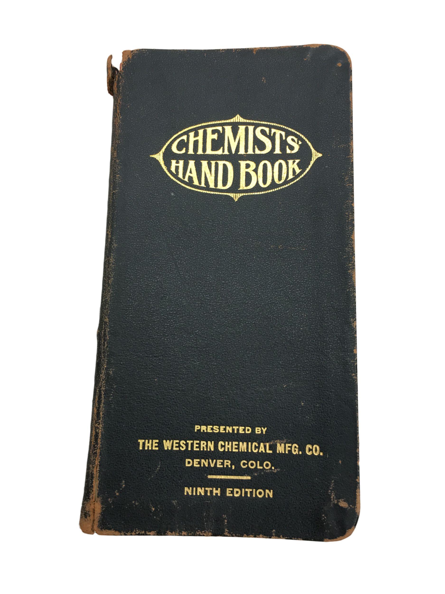 Chemist Handbook, 1919.