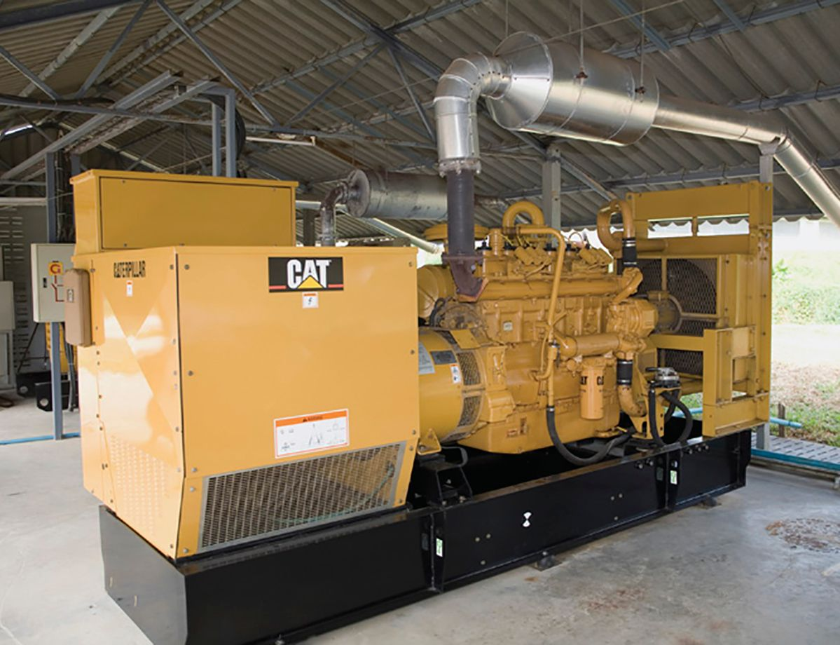A Cat® G3406 Gas Generator Set (105 kW), a Cat® G3306 Gas Generator Set (70 kW)