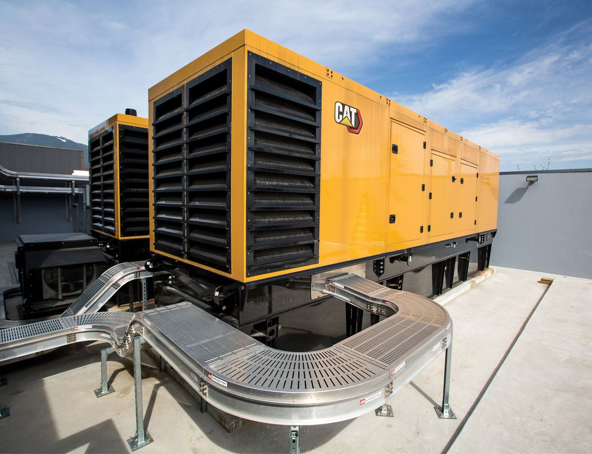 Working with the experts from Finning Power Systems, the company selected two 60-Hz Cat® C32 diesel generator sets.