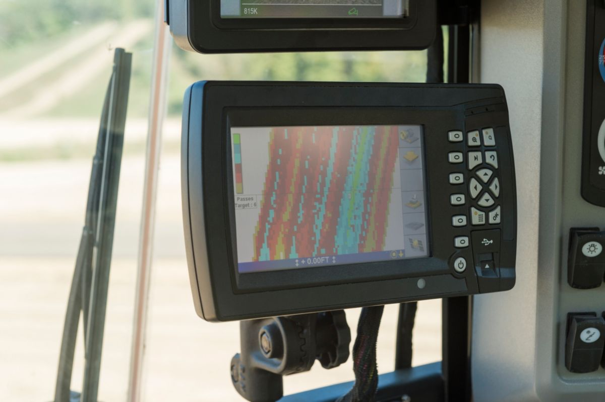 An on-board pass count and mapping display for the Intelligent Compaction system is one part of Cat<sup>®</sup> Connect Technologies & Services.