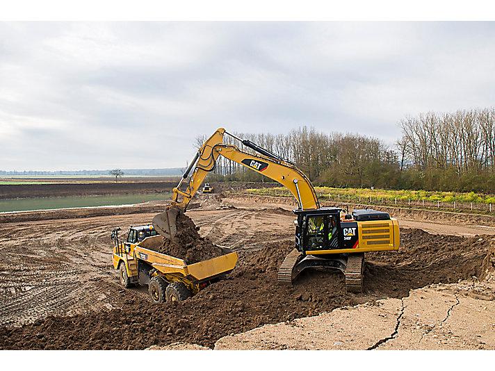 Excavadora Hidráulica Grande 340F