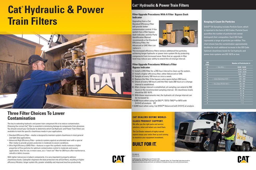 Cat Hydraulic & Power Train Filters