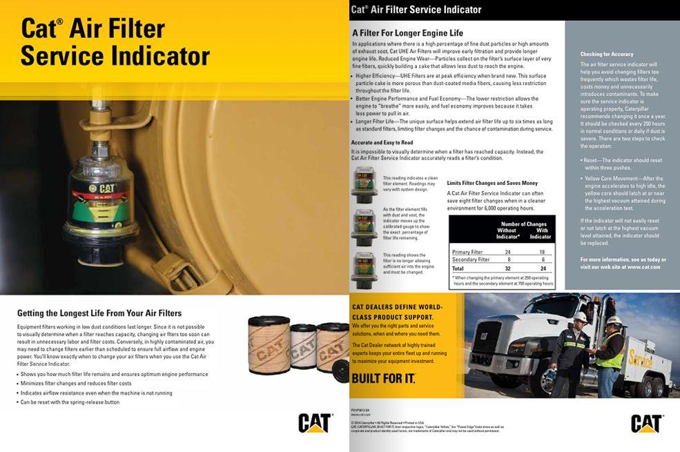 Cat Air Filter <br>Service Indicator