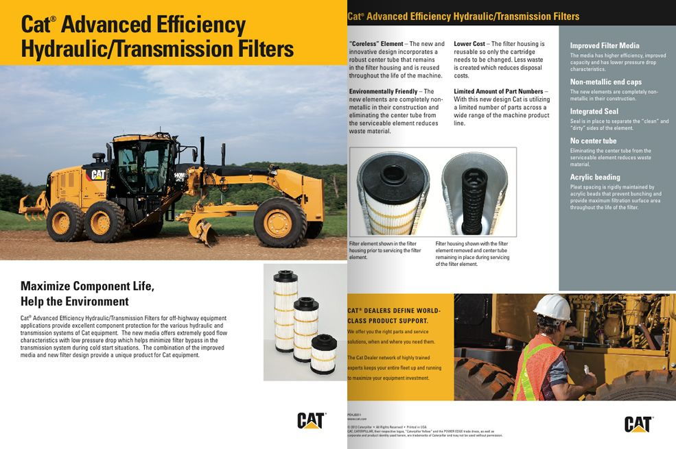 Cat Advanced Efficiency Hydraulic/Transmission Filters