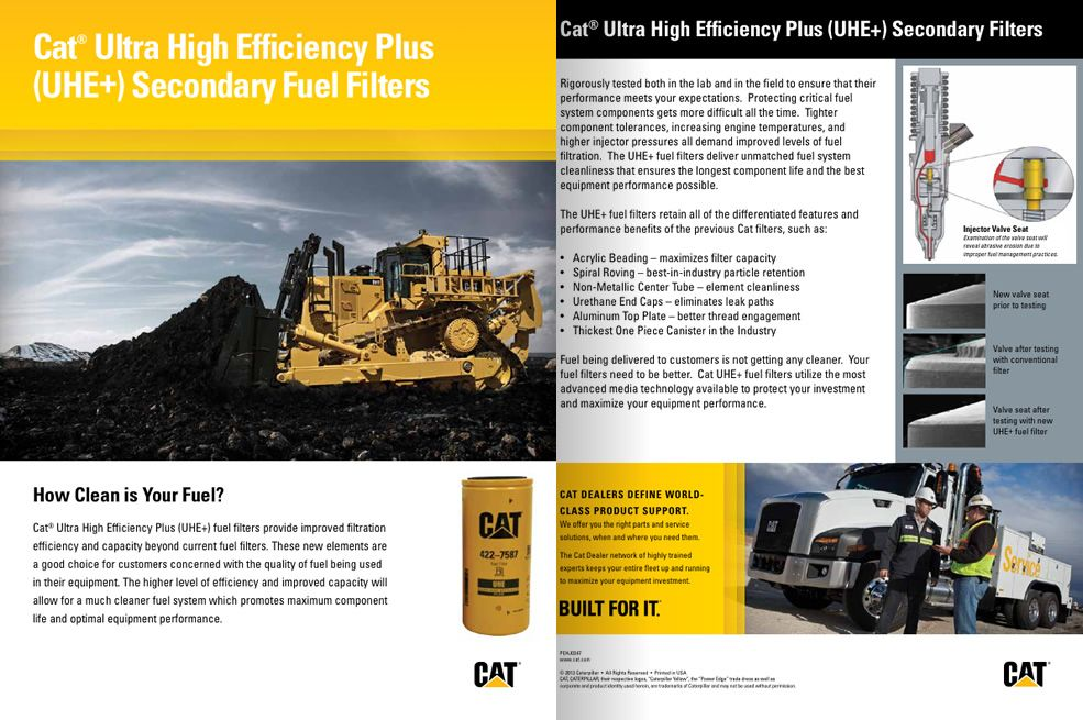 Cat Ultra High Efficiency Plus (UH+) Secondary Fuel Filters