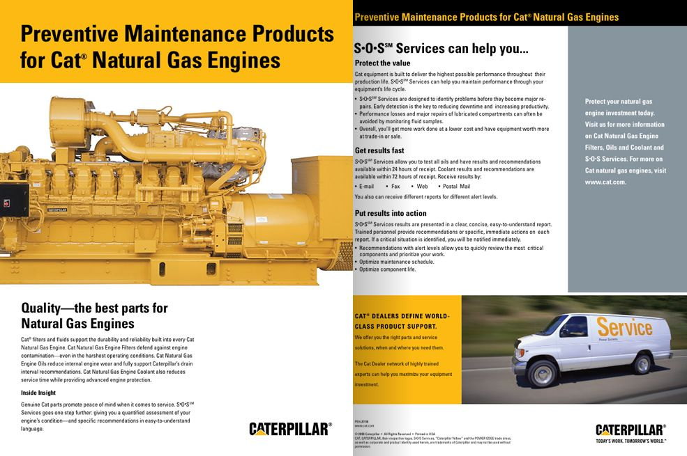 Preventive Maintenance Products for Cat Natural Gas Engines