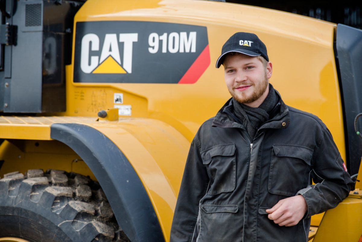 """I enjoy working with machinery,"" Markus Grossman says, ""so the comfort of the Cat cabin, and its low noise levels while operating, was very important in selecting this model, as well as the performance we would expect from the Cat brand."""