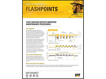 Fleet Advisor Detects Improper Maintenance Procedures