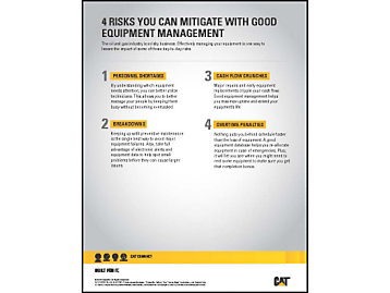 4 Risks You Can Mitigate with Good Equipment Management