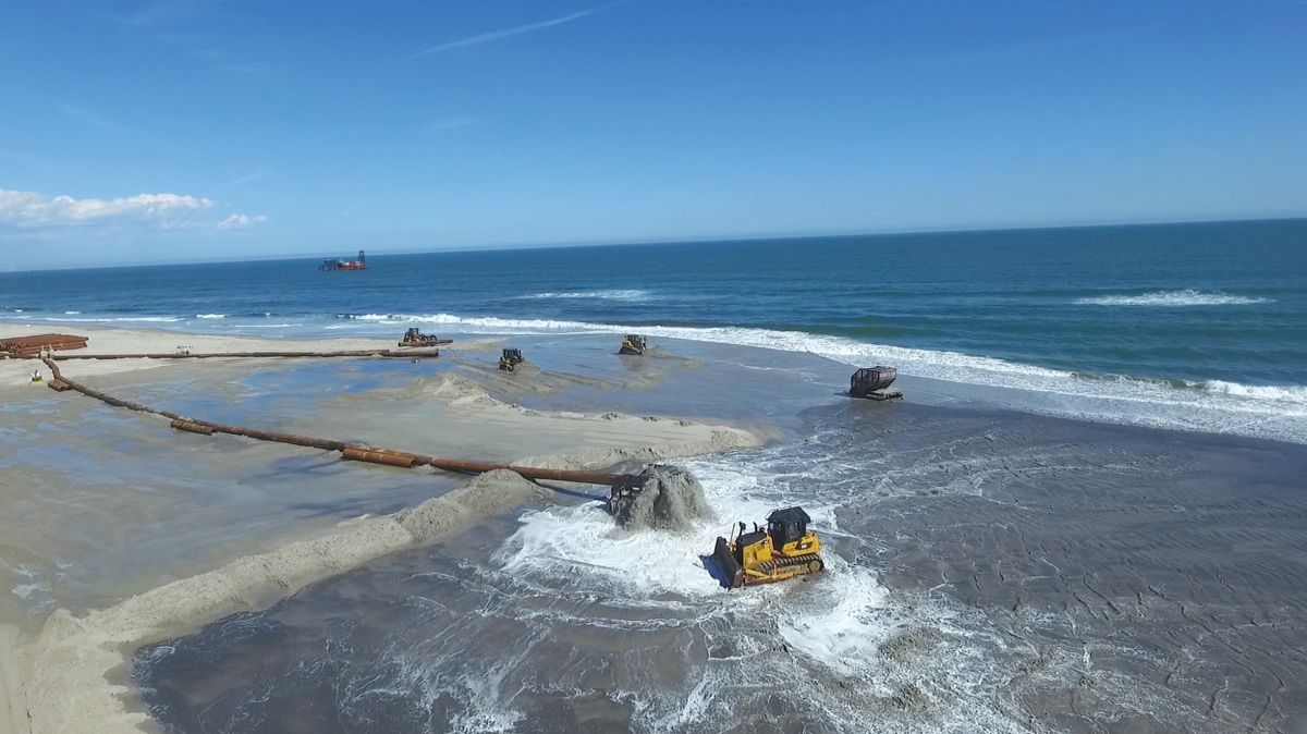 A massive, multi-million dollar Army Corps of Engineers project to restore the beach and natural infrastructure has been ongoing since shortly after Sandy subsided, with Great Lakes Dredge & Dock and their fleet of Cat® machines at the forefront.