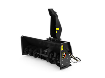 cat snow blowers for skid steers wheel loaders and compact