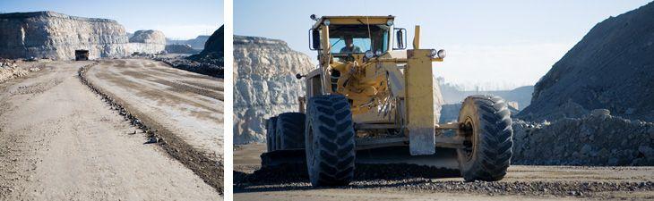 Cat<sup>®</sup> motor graders maintaining haul roads