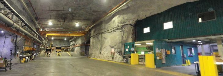 Underground repair shop in Glencore mine