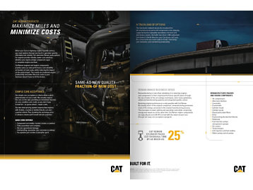 Reman Products Brochure