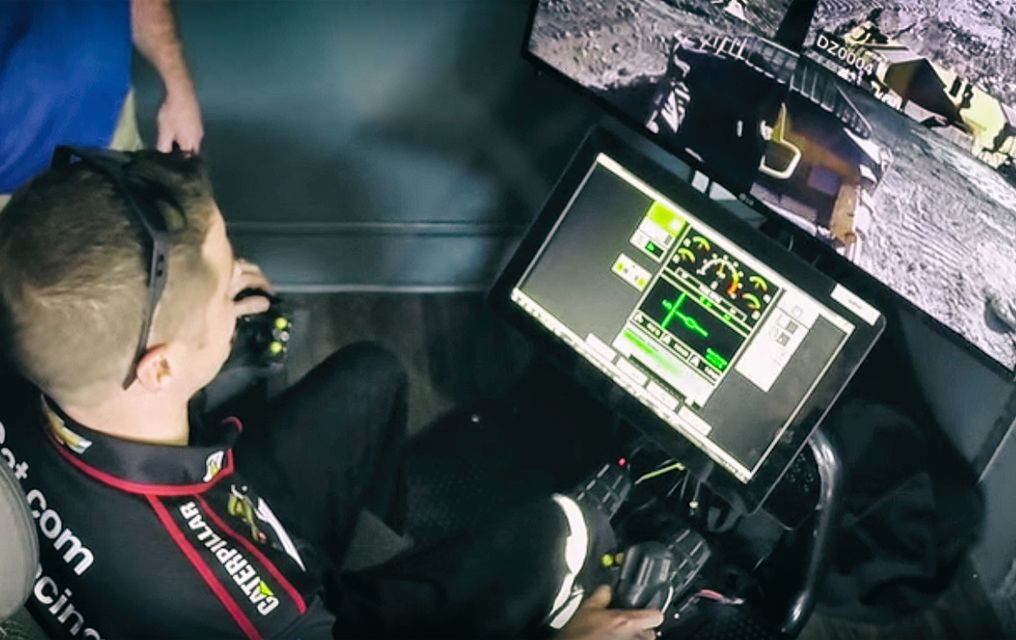 NASCAR Driver Operates D11T from Miles Away