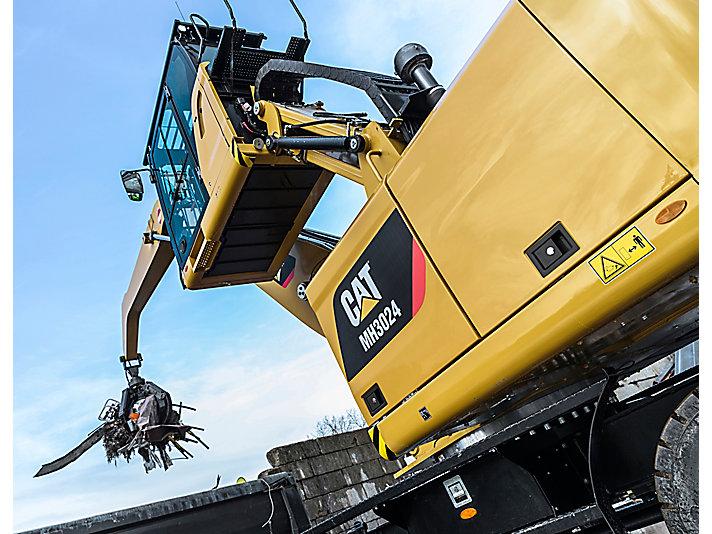 Pelle pour manutention sur pneus MH3024