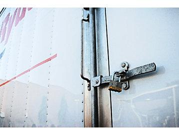 padlock on truck