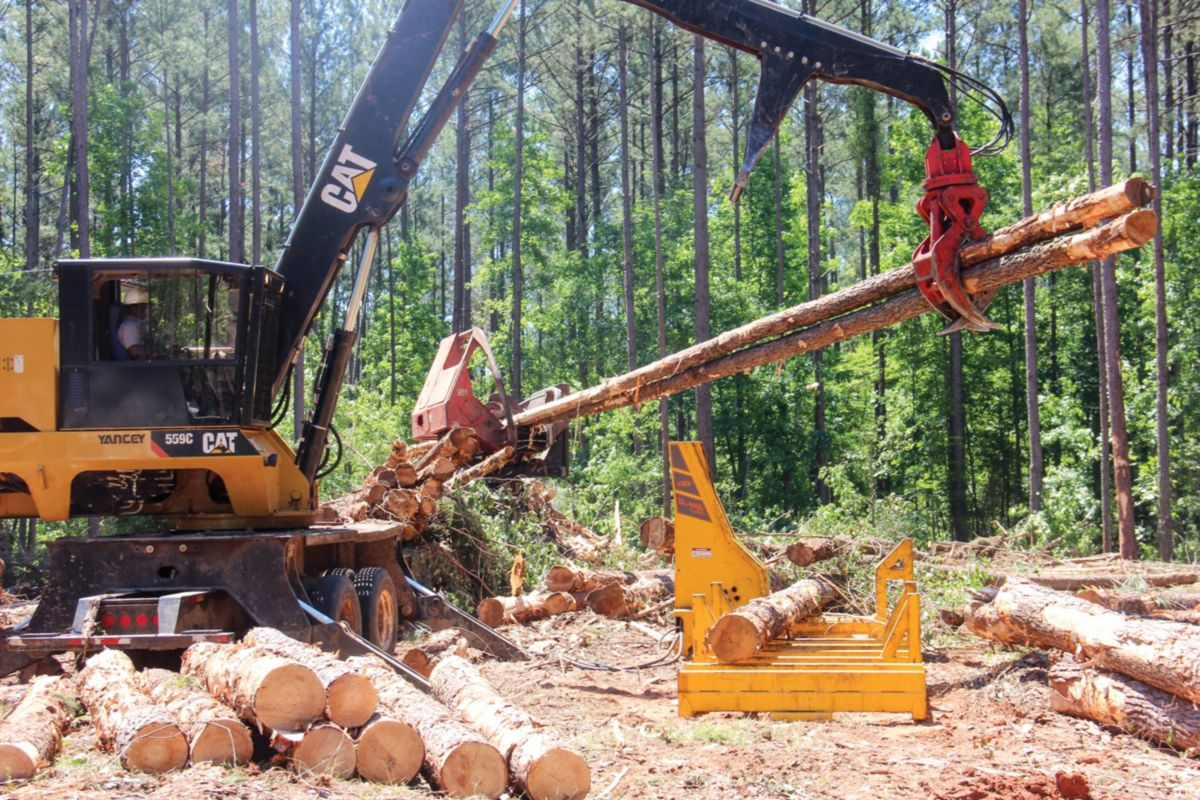A Cat® 559C loader works on both of Smith's two crews.