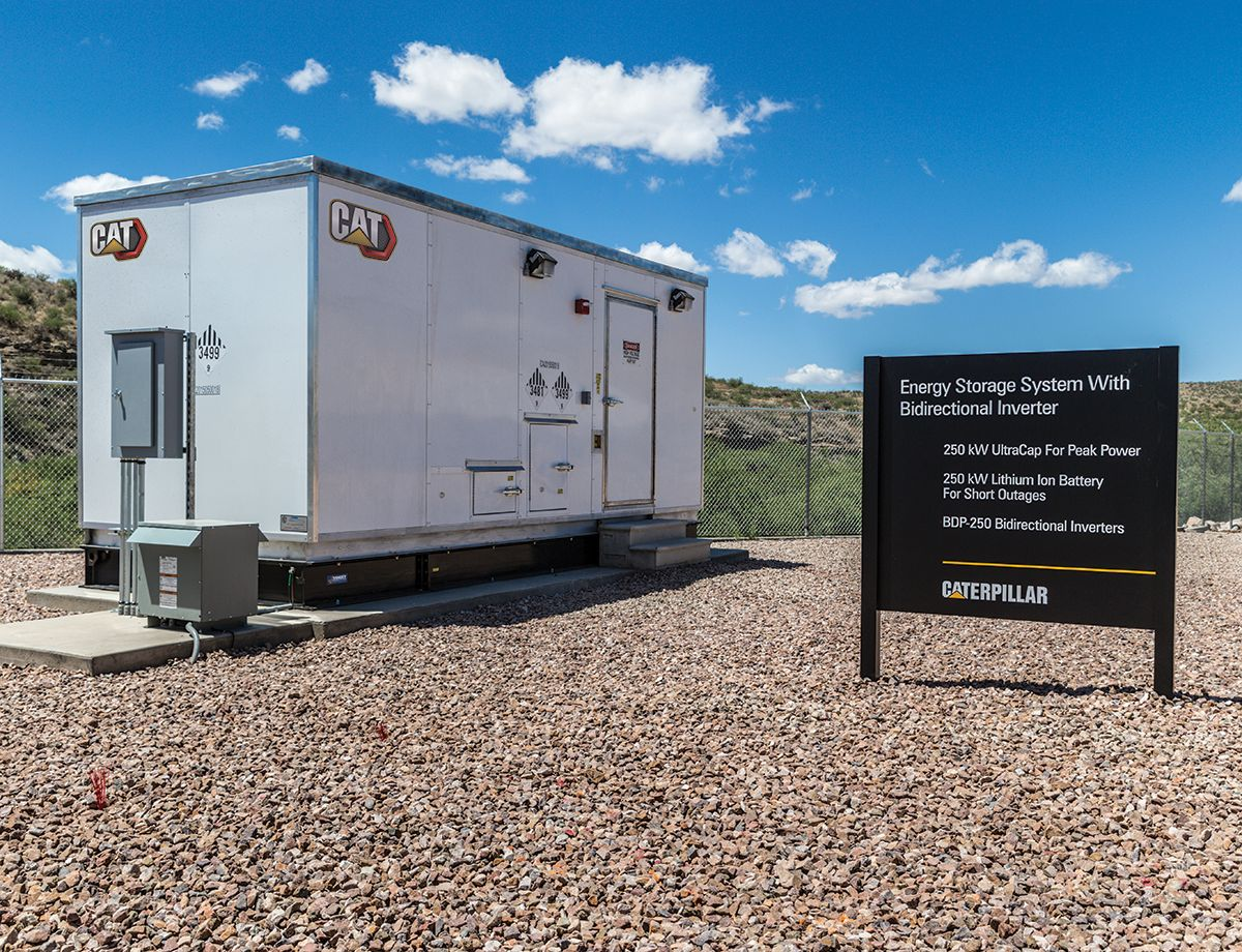 Excess energy is stored for stabilization as well as for use during unfavorable conditions, such as cloudy days and nighttime. Generator sets supplement the system by powering the microgrid when energy from other sources is unavailable.