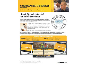 Safety Communication - Speak Up! Listen Up! Marketing Brochure