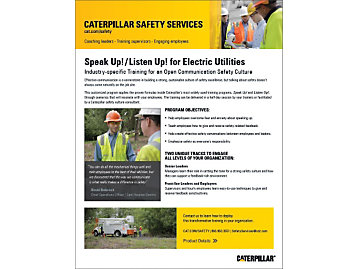 Safety Communication - Speak Up! Listen Up! for EU Marketing Brochure