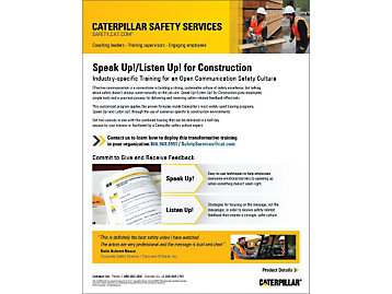 Safety Communication - Speak Up! Listen Up! for Construction Marketing Brochure