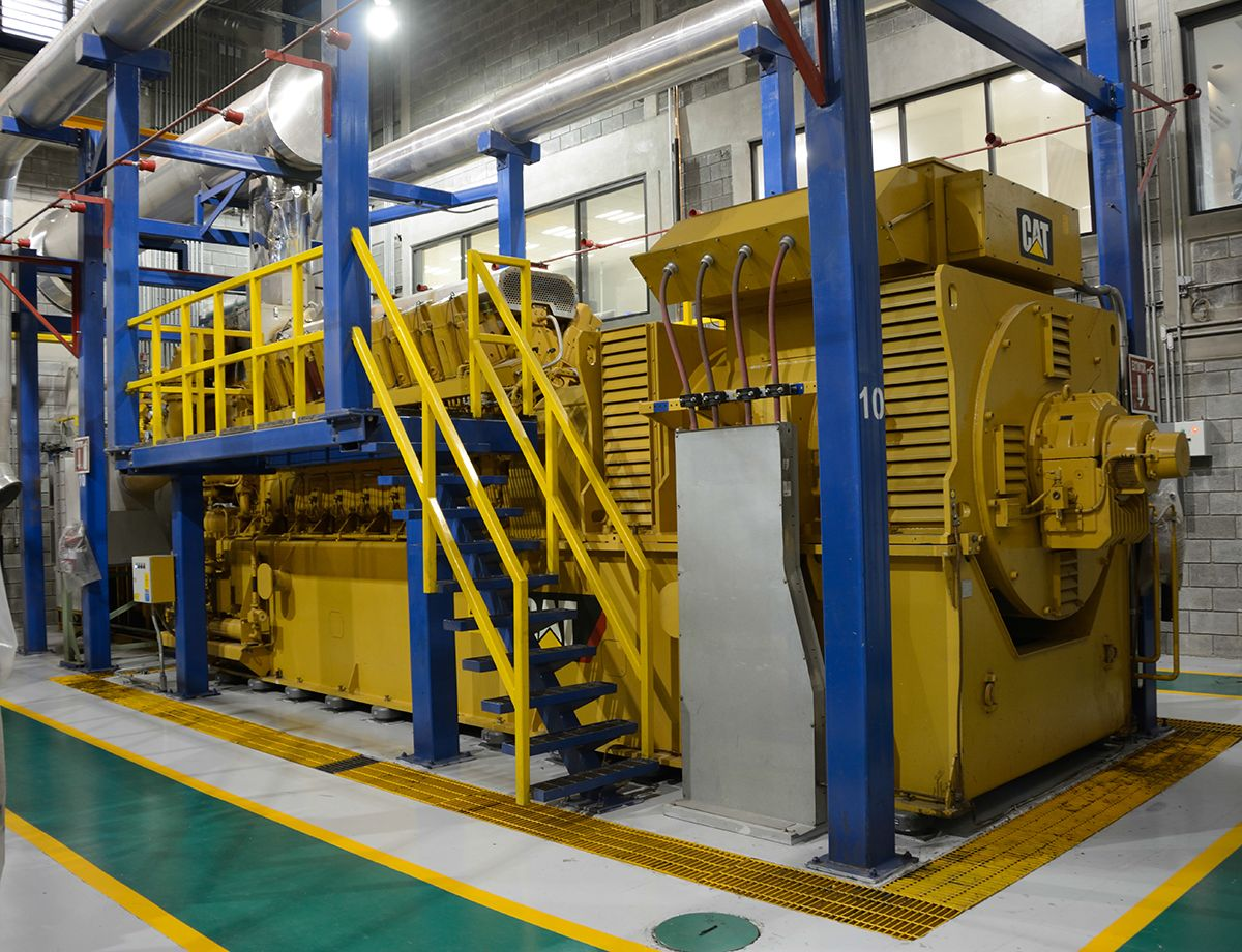 40 Cat® CG260-16 generator sets produce 160 MW of power for four separate plants at AHMSA.