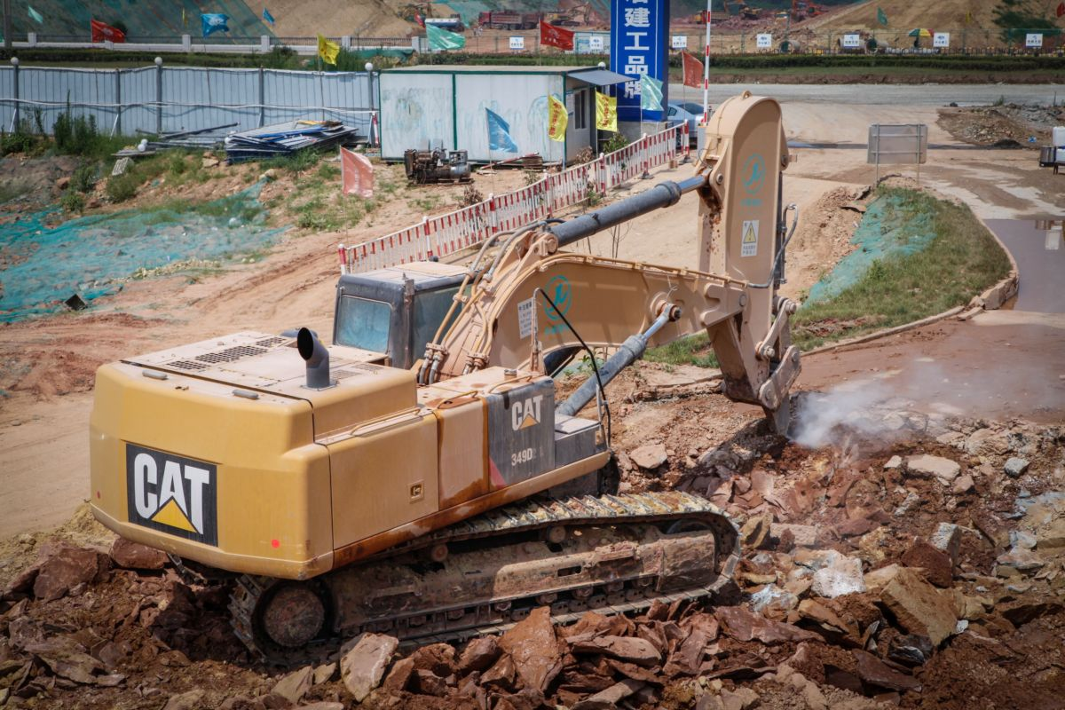 In China, ripper applications on excavators are commonly used in areas where blasting hard rock isn't an option.