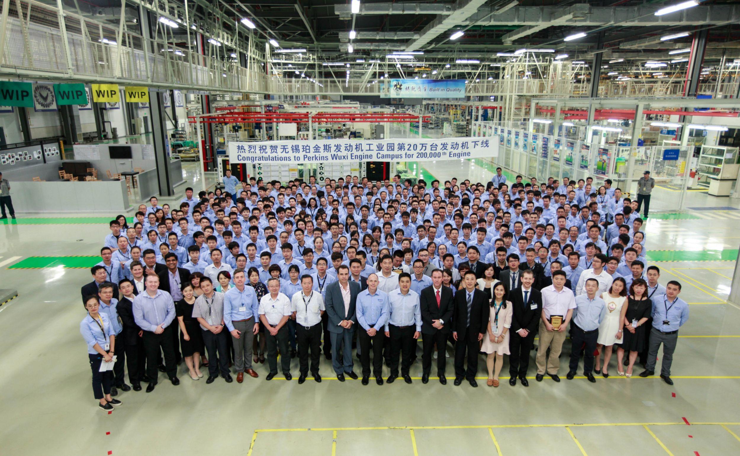 Perkins Wuxi facility celebrates 200,000th engine milestone