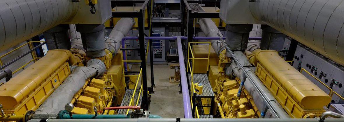 instalação de geração de energia elétrica