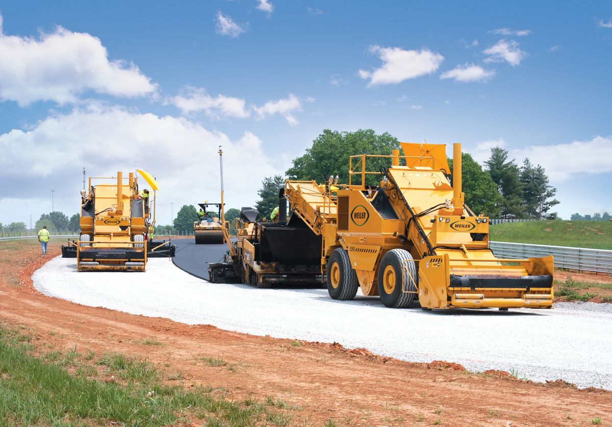 The use of Weiler E2850 Material Transfer Vehicles, and the non-contact paving they provide, was another smoothness effort.