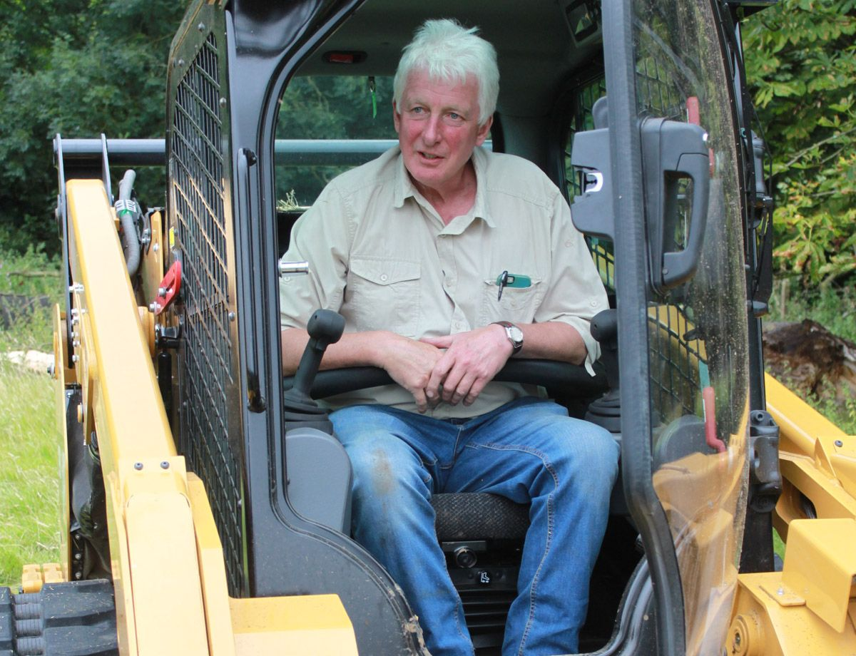 The Cat machine was evaluated against similar models from both Bobcat and JCB before the order was placed, but Charles says the Cat machine is in a 'different league'.
