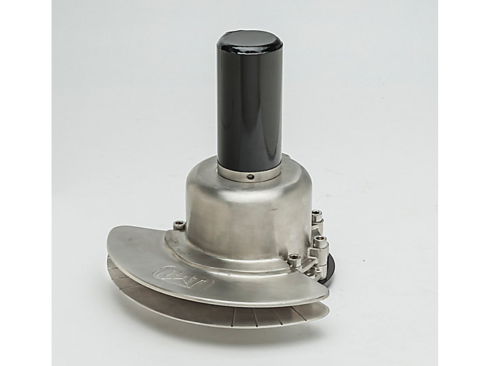 Water Delivery System (WDS) stainless steel spray head, side view