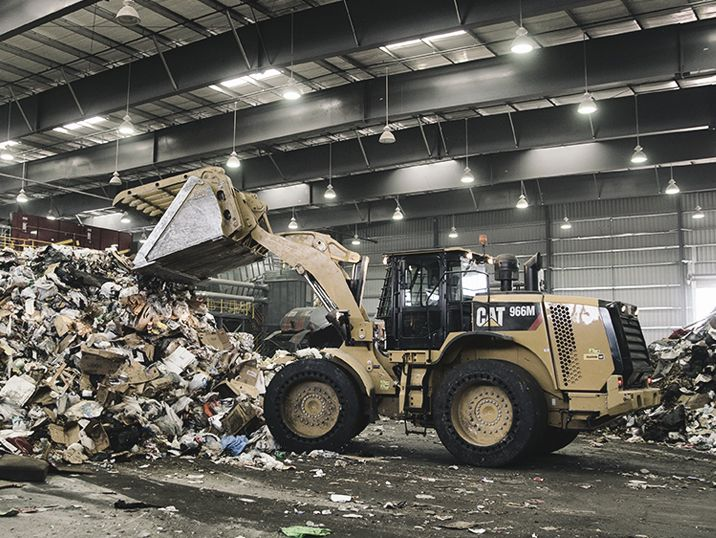 Loaders at a Transfer Station