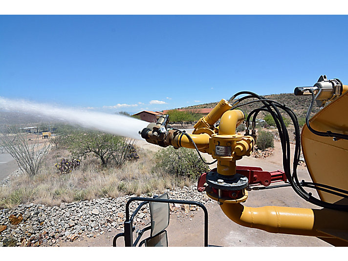 Water Delivery System water cannon on a water truck at the Tuscon Proving Ground (TPG)
